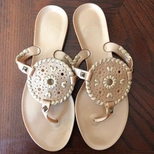 Jack Rogers Georgica Gold Gelly Sandals